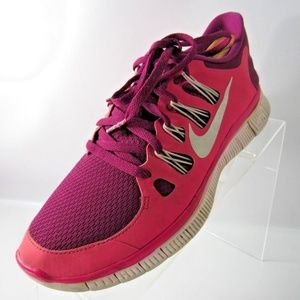 Nike Free 5.0 Size 8.5 Red Running Shoes For Women